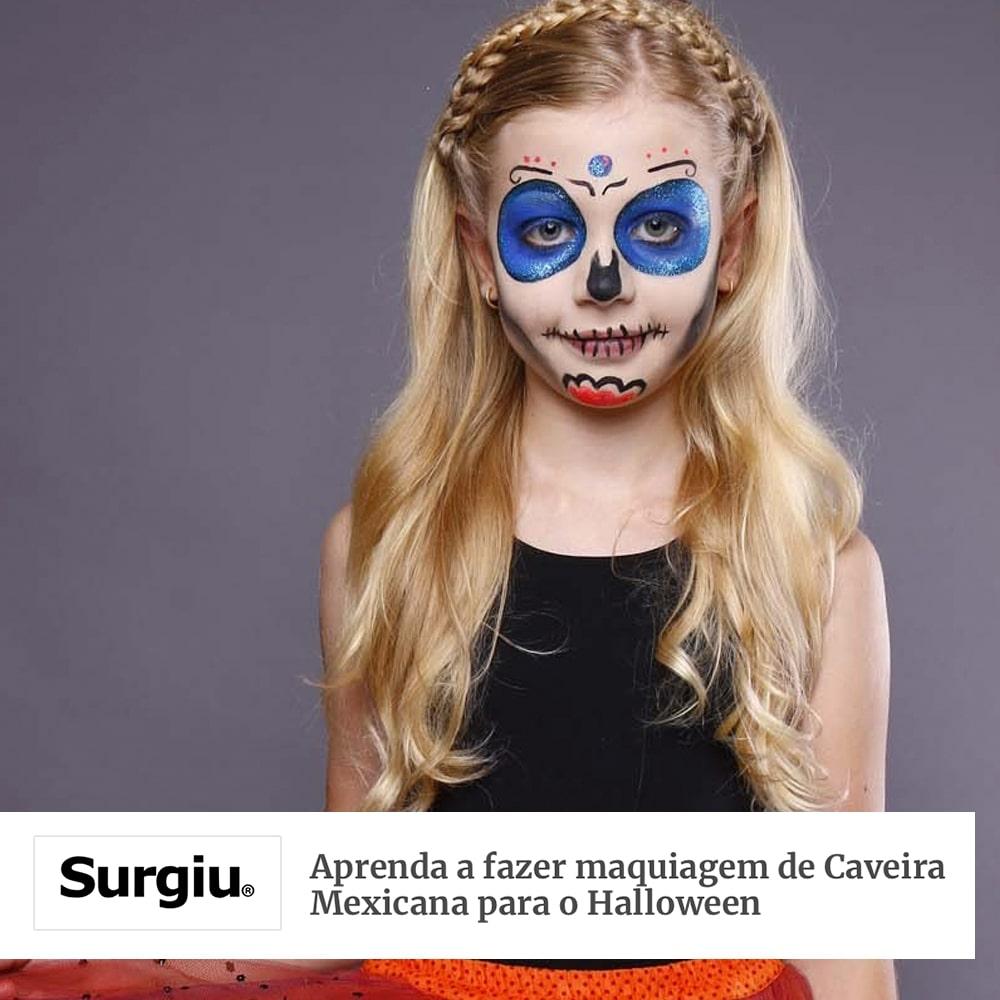Agência de Modelo | Maquiagem de Caveira | Halloween | Max Fama