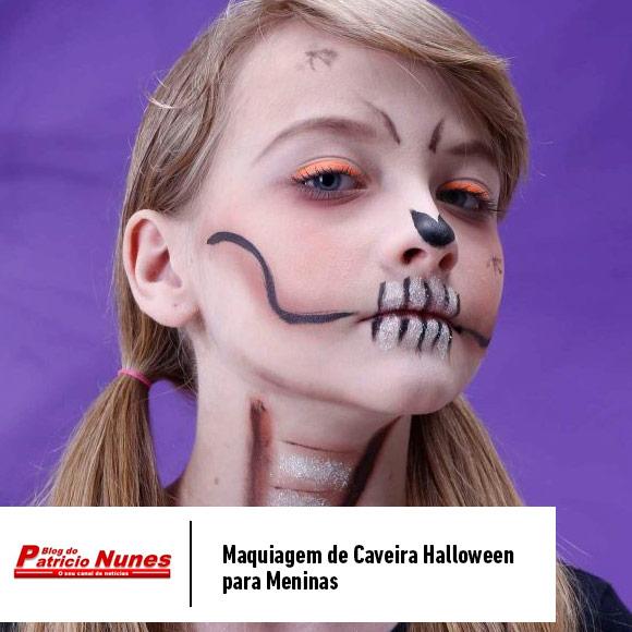 Maquiagem de Caveira Halloween
