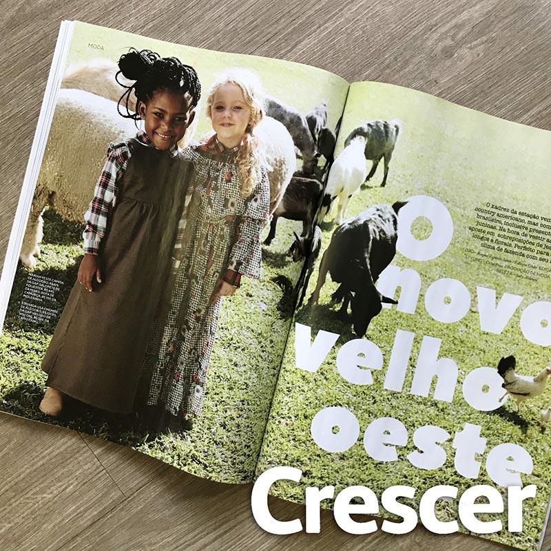 Revista Crescer | Junho | Agência De Modelo | Agência De Modelos Max Fama